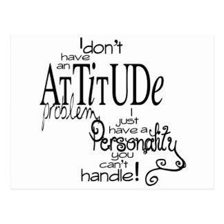 Attitude problem humor postcard