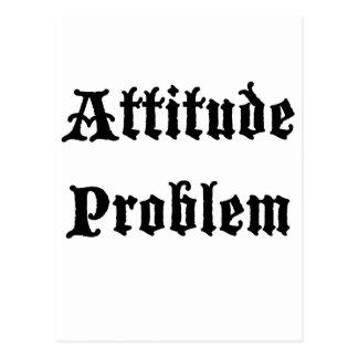 Attitude Problem Postcard