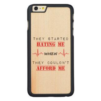 Attitude Quote On iPhone 6/6s Plus Maple Wood Case