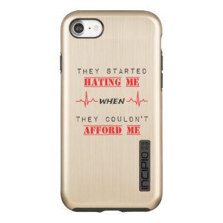 Attitude Quote On iPhone 7 DualPro Shine, Gold Incipio DualPro Shine iPhone 8/7 Case