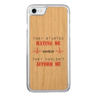 Attitude Quote On iPhone 7 Slim Cherry Wood Case