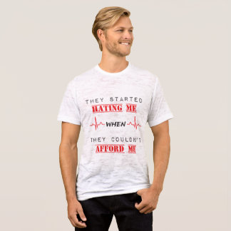 Attitude Quote On  Men's Canvas Burnout T-Shirt