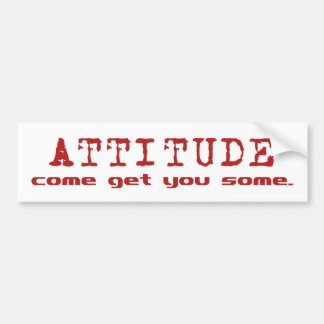 Attitude Red Bumper Sticker