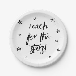 Attitude, Success, Dreams Black Motivational Quote Paper Plate