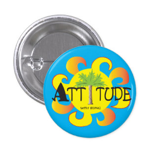 Attitude With Bling 3 Cm Round Badge