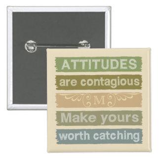 ATTITUDES custom monogram motivational button