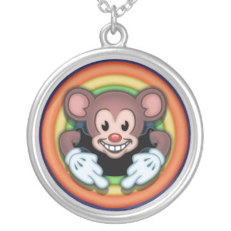 Attitudy Mouse Round Pendant Necklace