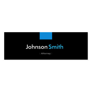 Attorney - Aqua Blue Compact Pack Of Skinny Business Cards