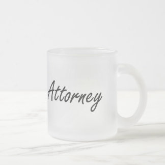 Attorney Artistic Job Design Frosted Glass Mug