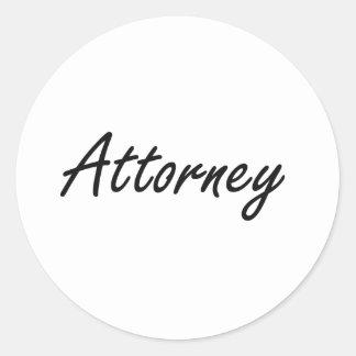 Attorney Artistic Job Design Classic Round Sticker