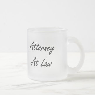 Attorney At Law Artistic Job Design Frosted Glass Mug