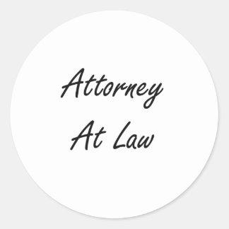 Attorney At Law Artistic Job Design Classic Round Sticker