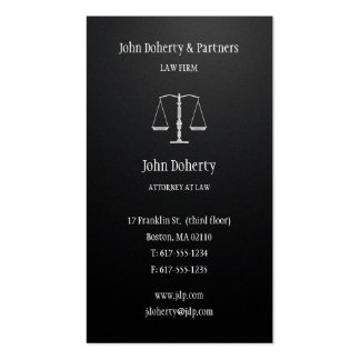 Attorney at Law | Black Pack Of Standard Business Cards