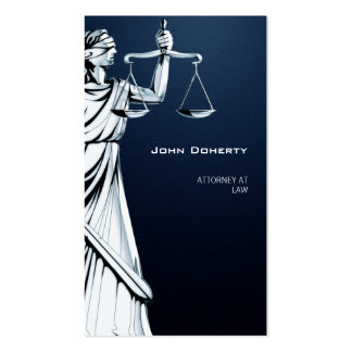 ATTORNEY AT LAW - Blue Business Card