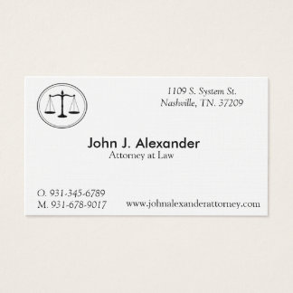 """Attorney at Law Business, 3.5"""" x 2.0"""", 100 White Business Card"""