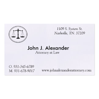 """Attorney at Law Business, 3.5"""" x 2.0"""", 100 White Pack Of Standard Business Cards"""