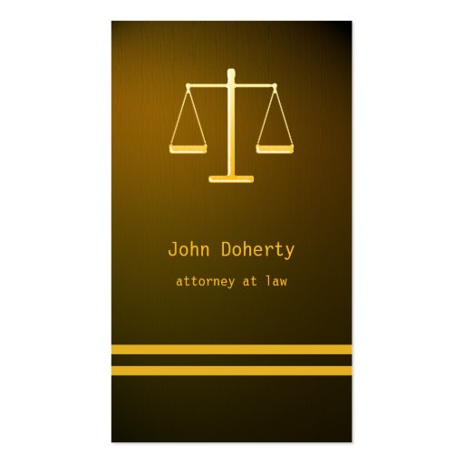 ATTORNEY AT LAW - Business Card