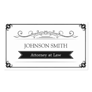 Attorney at Law - Classy Vintage Frame Pack Of Standard Business Cards