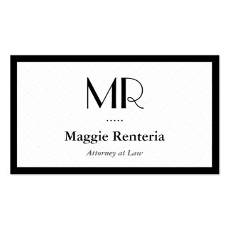 Attorney at Law - Clean Stylish Monogram Pack Of Standard Business Cards