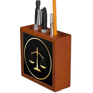 Attorney at law desk organiser