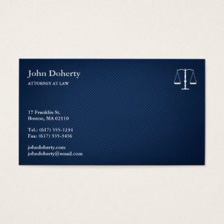 ATTORNEY AT LAW - Elegant Blue Business Card