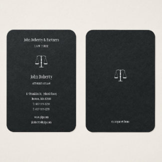 Attorney at Law | Elegant Classy Business Card