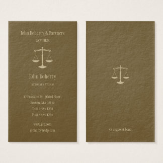 Attorney at Law   Elegant Gold Business Card