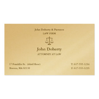 Attorney at Law | Elegant Lawyer Business Card