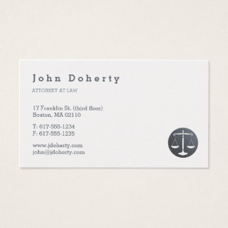 Attorney at Law | Elegant Platinum Business Card