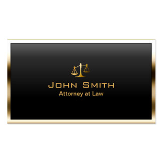 Attorney at Law Gold Border Professional Modern Double-Sided Standard Business Cards (Pack Of 100)
