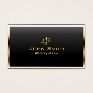 Attorney at Law Gold Border Professional Modern Business Card