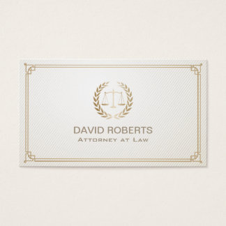 Attorney at Law Gold Framed Lawyer Business Card