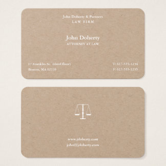 Attorney at Law I Scales of Justice Business Card