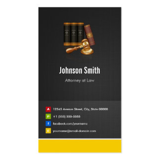 Attorney at Law - Justice Creative Innovative Pack Of Standard Business Cards