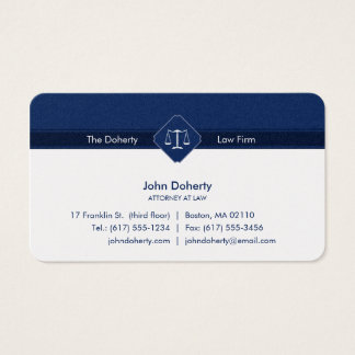 ATTORNEY AT LAW | Law Office Business Card