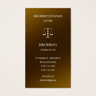 Attorney at Law - Lawyer Elegant Business Card