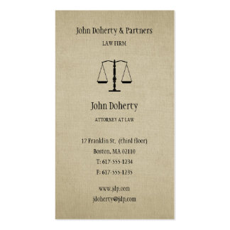 Attorney at Law | Lawyer Pack Of Standard Business Cards