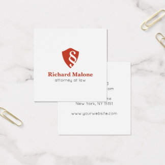 Attorney At Law Lawyer Shield Logo Business Card