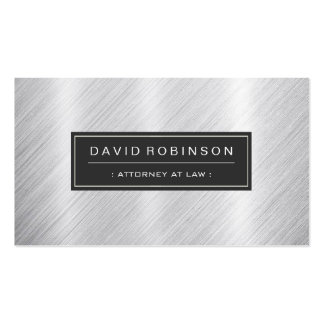 Attorney at Law - Modern Brushed Metal Look Pack Of Standard Business Cards