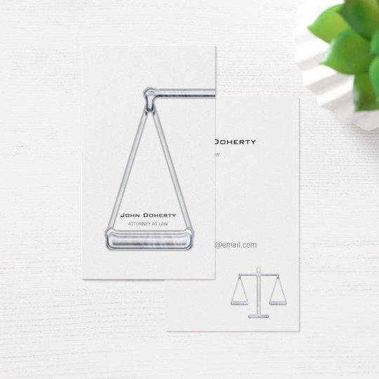 ATTORNEY AT LAW | Modern Business Card