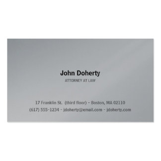 Attorney at Law | Plain Pack Of Standard Business Cards