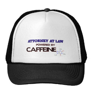 Attorney At Law Powered by caffeine Trucker Hat