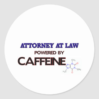 Attorney At Law Powered by caffeine Stickers