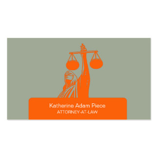 Attorney at Law Private Legal Practice Lawyer Pack Of Standard Business Cards