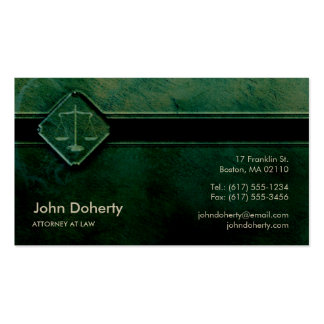 ATTORNEY AT LAW | Professional Green Pack Of Standard Business Cards