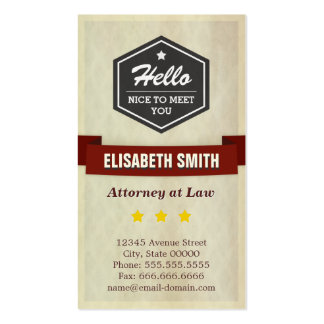 Attorney at Law - Retro Grunge Style Pack Of Standard Business Cards