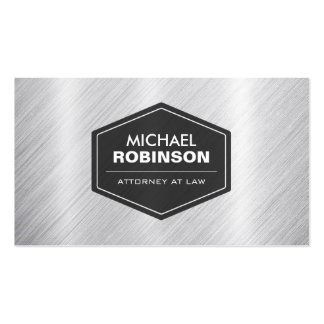 Attorney at Law - Silver Metallic Look Pack Of Standard Business Cards