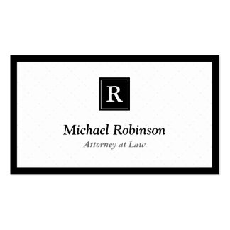 Attorney at Law - Simple Elegant Monogram Pack Of Standard Business Cards
