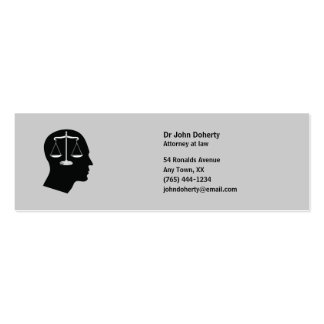 ATTORNEY AT LAW | Think Pack Of Skinny Business Cards