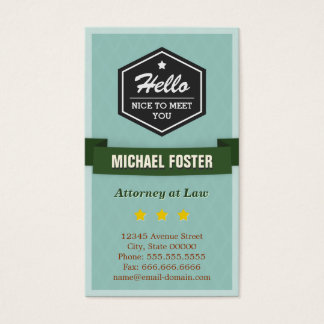 Attorney at Law - Vintage Style Hello